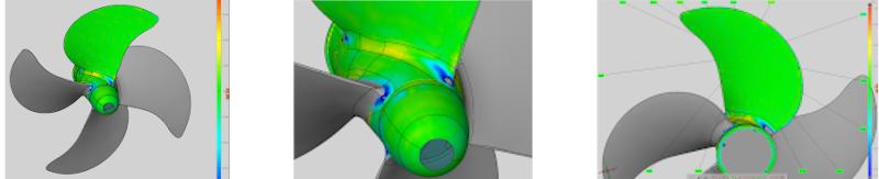 3d scan laten maken van een scheepsschroef aandrijving en beweging