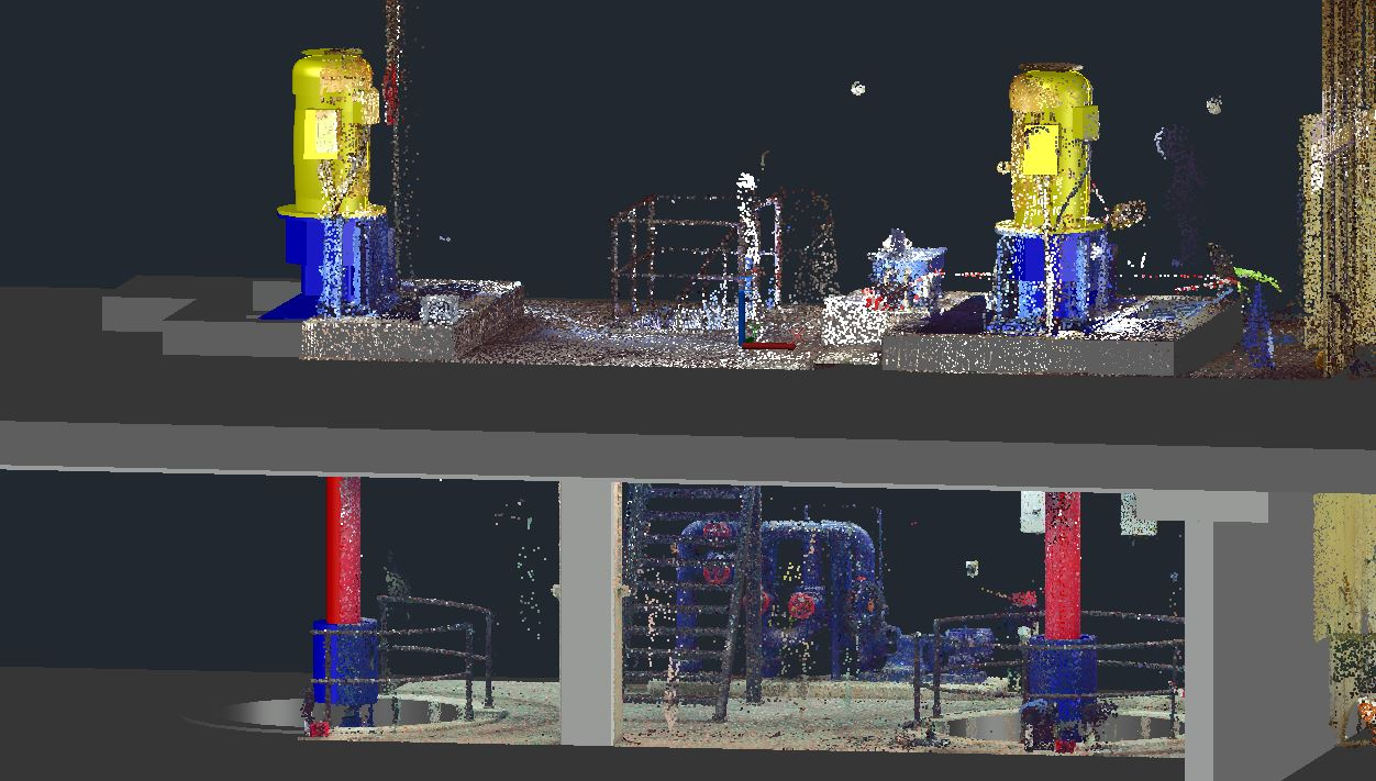 3D animation of a pump of other installation